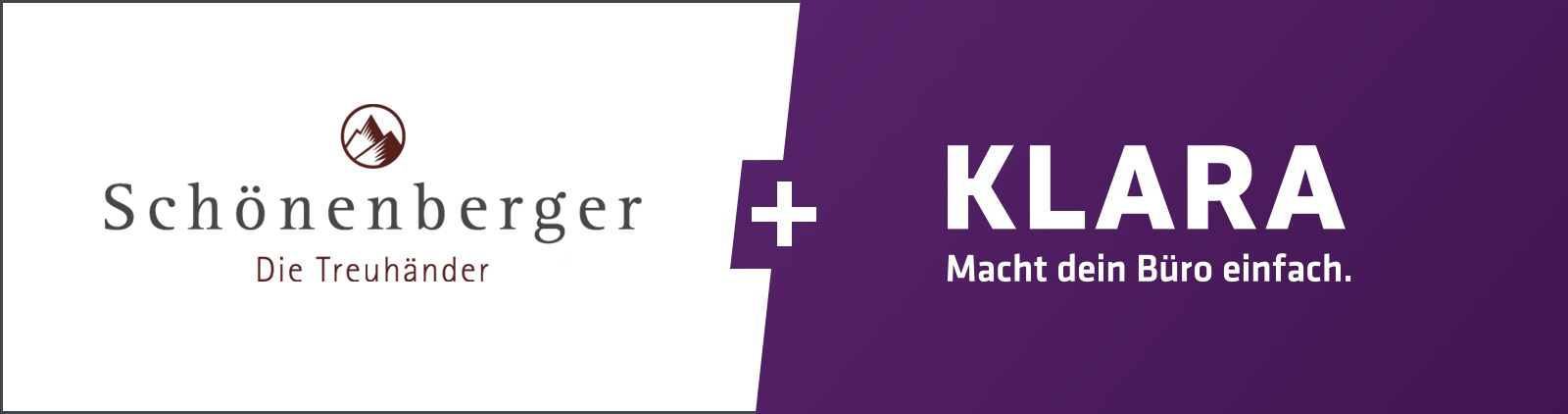 Eine starke Partnerschaft: Schönenberger Die Treuhänder AG und KLARA